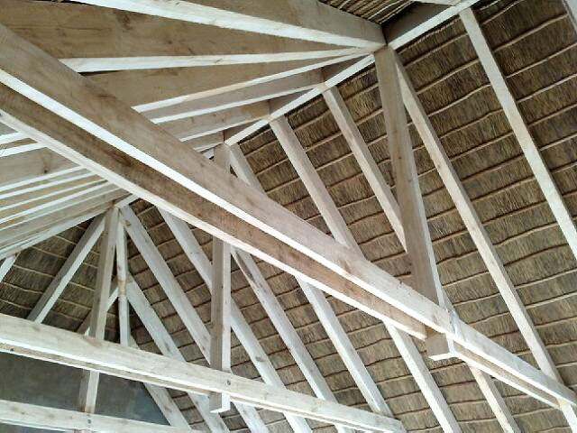 Beams & Thatched Roof